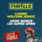 Thrills Casino | €1500 Bonus + 20 Super Free Spins | Big jackpot slots!
