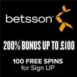 Betsson Casino free spins bonus