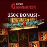 Super Gaminator 100% up to €250 casino bonus & free spins