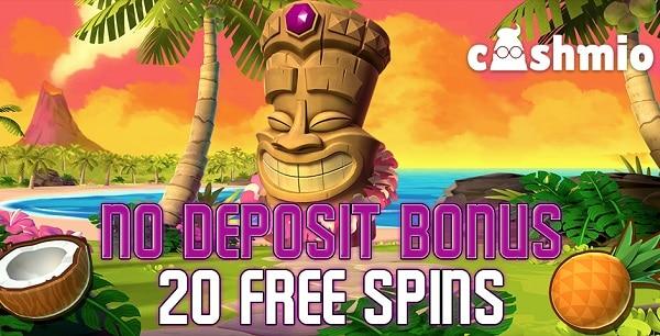 20 gratis spins on Aloha slot