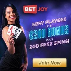 BETJOY - 225 free spins and 150% bonus - casino, sports, live dealer