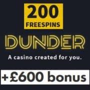 Dunder Casino free bonus