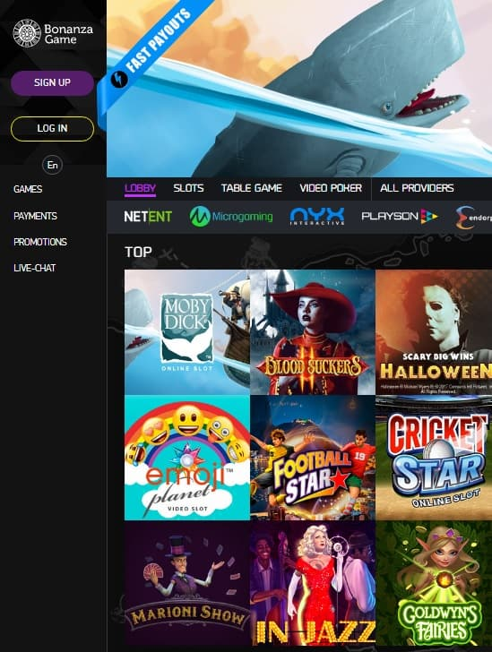 Bonanza Game Casino Review - online & mobile