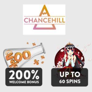 Chance Hill Casino 25 free spins (no deposit) and 200% free bonus