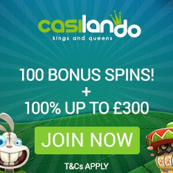 Casilando Casino 10 gratis spins + 100% up to €300 + 90 free spins