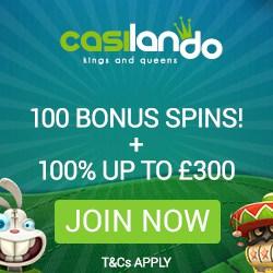 Casilando Casino 10 gratis spins + 100% up to €300 + 90 free spins