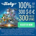 Sloty.com [Casino Review] 300 free spins and £1500 sign-up bonus