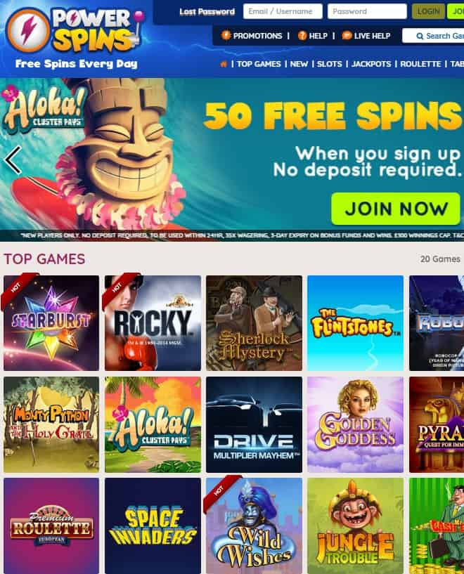 Power Spins Casino Review