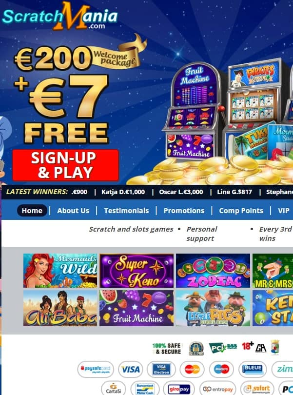 Get 7 EUR free bonus!