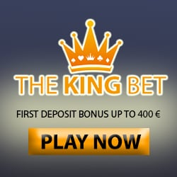 TheKingBet Casino €5 gratis (NDB) + 100% up to €400 free bonus