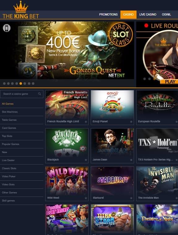 TheKingBet Casino Free Bonus
