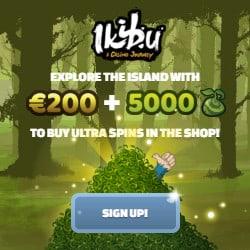 Ikibu Casino 50 free spins (seeds) and €200 gratis bonus