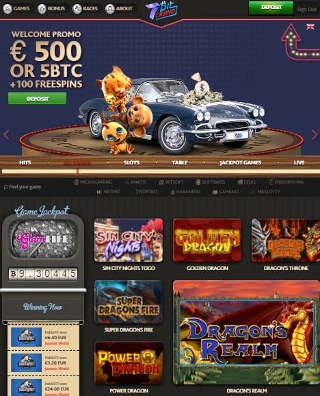 500 EUR or 5 Bitcoins welcome bonus and 200 Free Spins