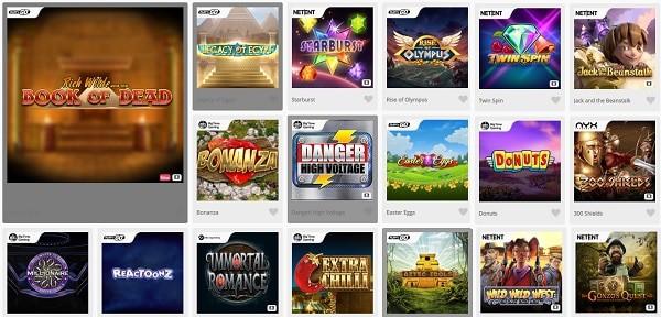 Casimba Casino games and software