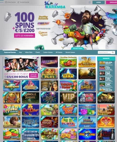 Karamba.com free spins bonus