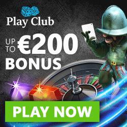 Play Club Casino 100 free spins & €200 free bonus - Live & Mobile