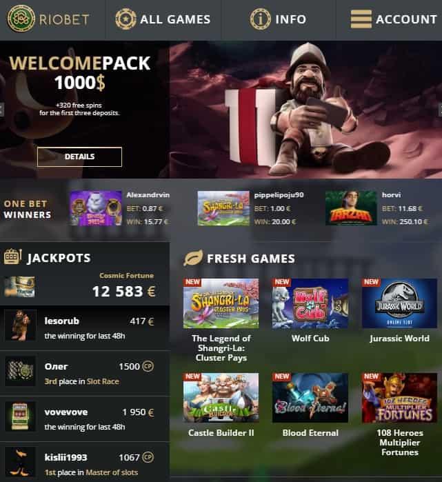 Riobet.com Online & Mobile Casino $15 free bonus - no deposit required