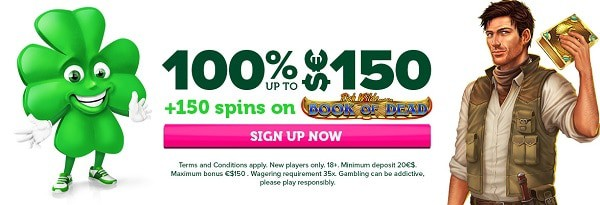 100% bonus and 150 free spins