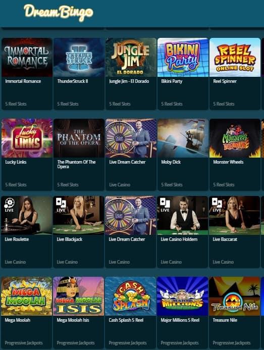 Dream Bingo Casino free games
