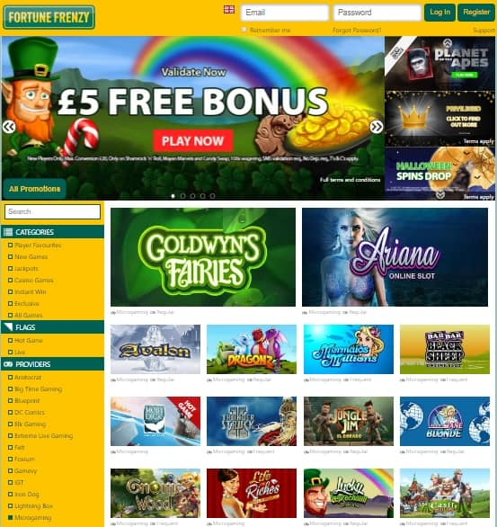 Fortune Frenzy Casino Online & Mobile