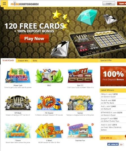 Prime Scratch Cards Casino free games