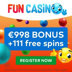 Fun Casino Review | 111 free spins and 100% up to €/£/$ 998 bonus