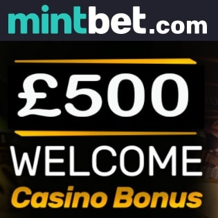 Mintbet Casino 100% up to £500 bonus and free spins for UK players