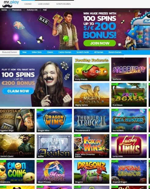 Mr. Play Casino free bonus spins