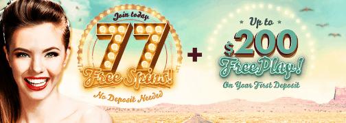 777 Casino 77 free spins bonus