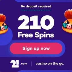 21.com - 210 free spins and 510€ gratis bonus - new online casino!