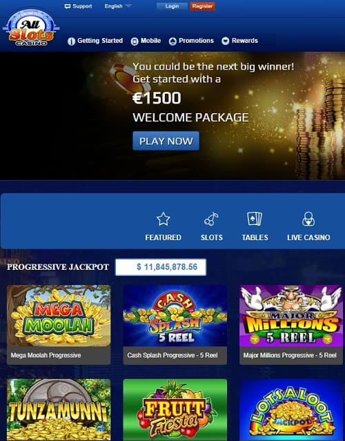 50 exclusive free spins bonus to All Slots Casino