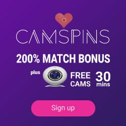 CamSpins™ Online Casino 200% welcome bonus + 1000 free spins