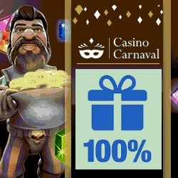 Casino Carnaval $300 bonus and free spins | Mobile & Online