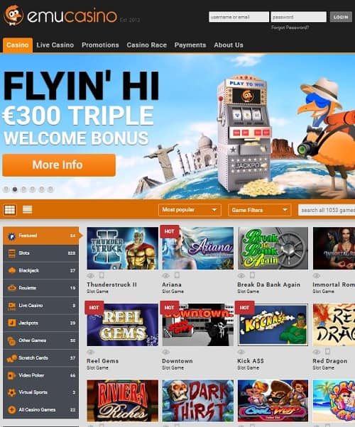 Emu Bitcoin Games and Free Spins