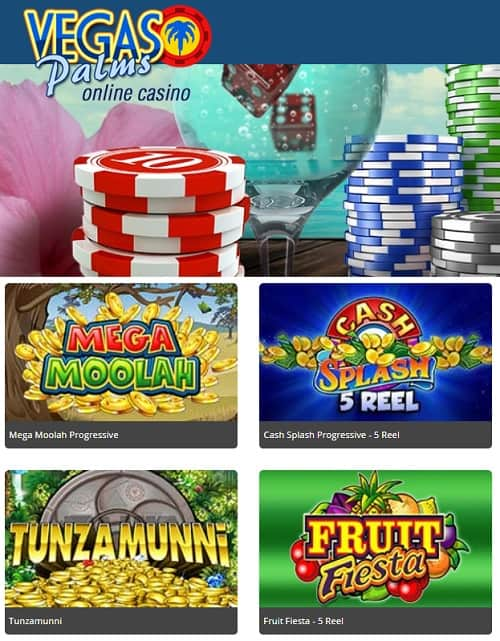 Vegas Palms Online Casino 30 free spins bonus