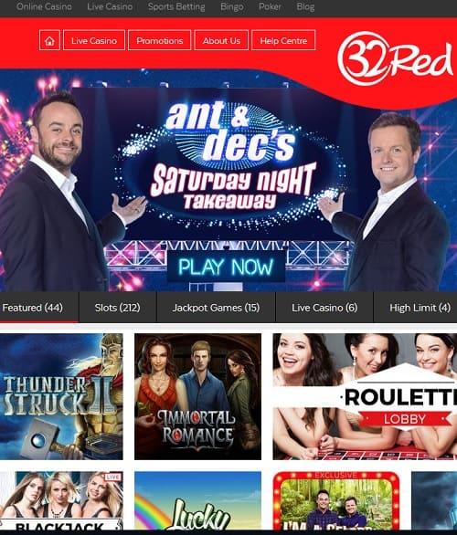 32Red Online Casino, Sportsbook & Poker