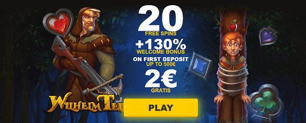 2€ Gratis No Deposit