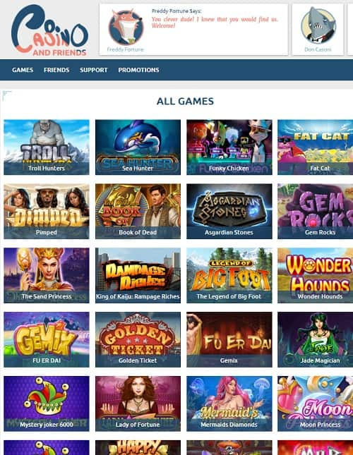 Casino and Friends Online Review