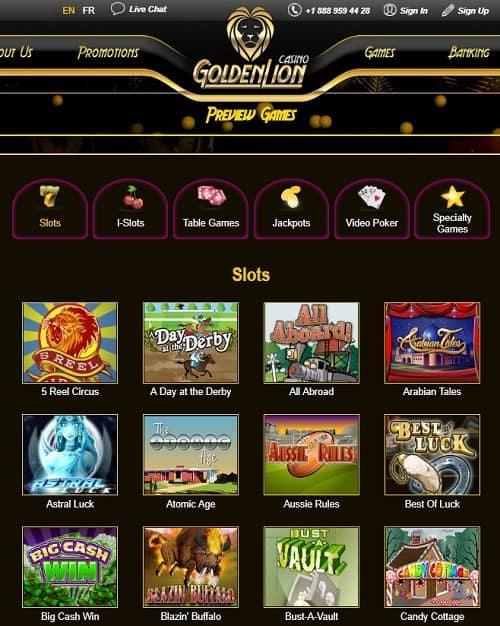 Golden Lion Casino free bonus codes