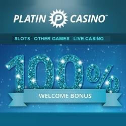 Platin Casino 100% deposit bonus + 20 free spins on Book of Dead