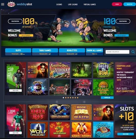 Webby Slot Casino free spins bonus