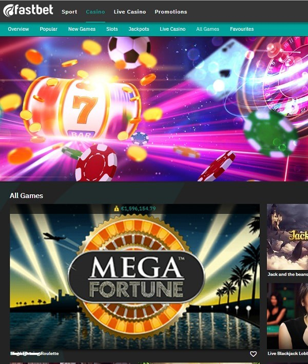 FastBet no register casino