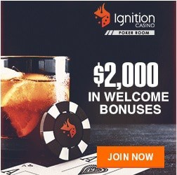 Ignition Casino - $10 free no deposit bonus for USA, Australia & Canada