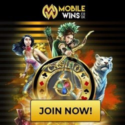 Mobile Wins Casino UK: £/€/$800 FREE - no bonus code needed!
