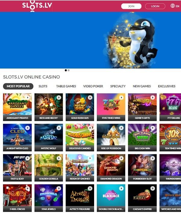 Slots.lv Casino play free slot machines
