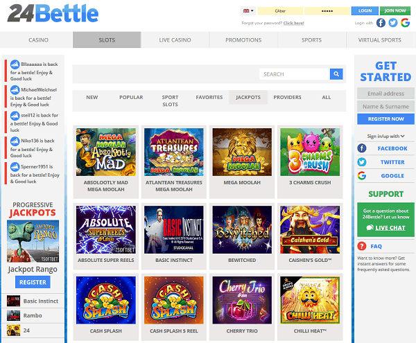 Play in the best online casino in the world!