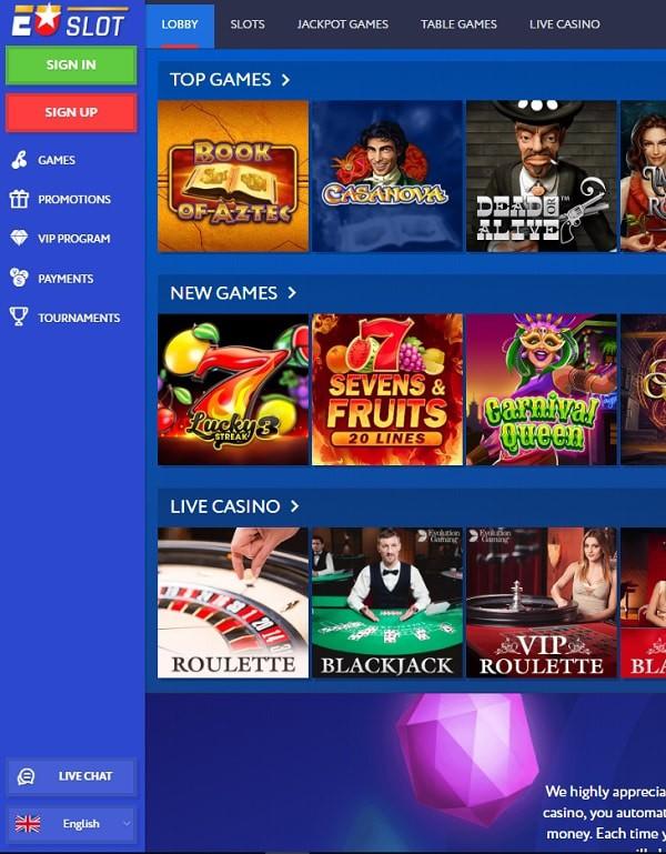 EUSlot Casino Overview