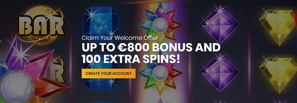 Casiplay Casino welcome bonus and free spins promotion