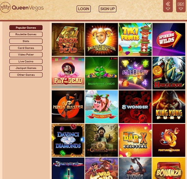 Queen Vegas Casino no deposit bonus