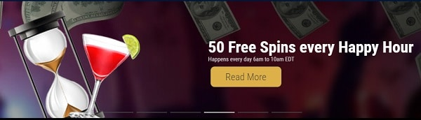 50 Free Spins Happy Hour Promo